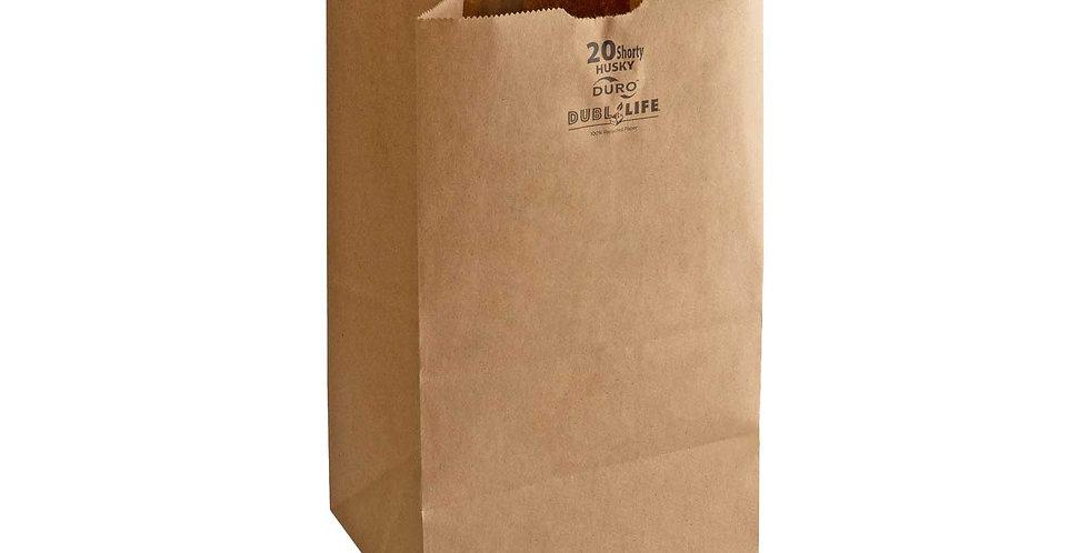 20 lb. Brown Paper Bag 400pcs/CS