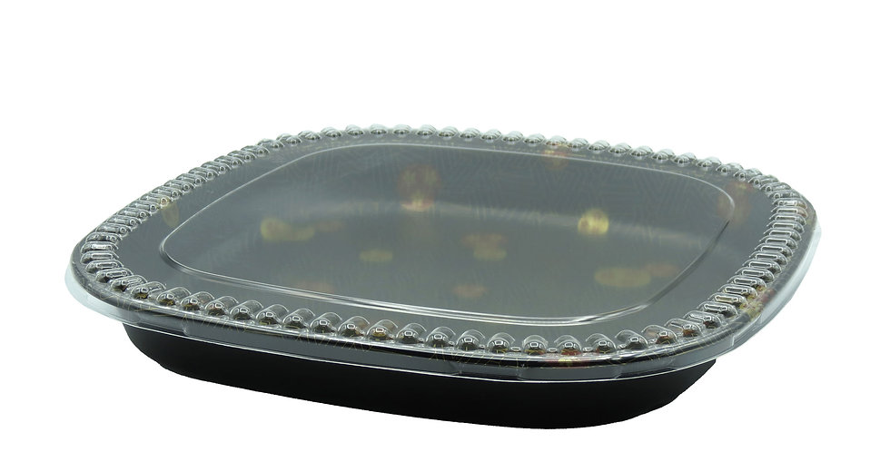 WE 400S Square Party Tray w. Lid 60/Case
