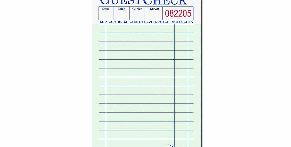 Guest Check Book 50pcs/CS