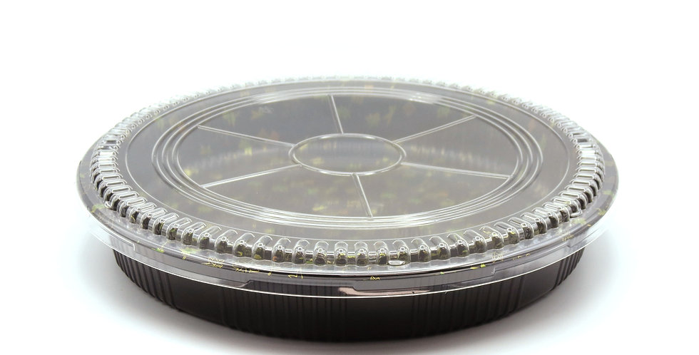 WE 65R Round Printed Party Tray w. Lid 60/Case