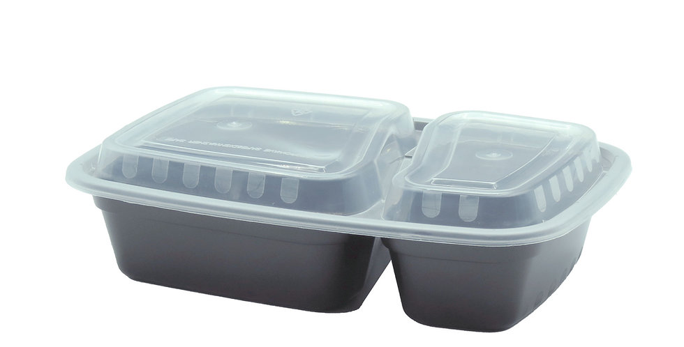 32 oz. 2 Compartment Container 6828
