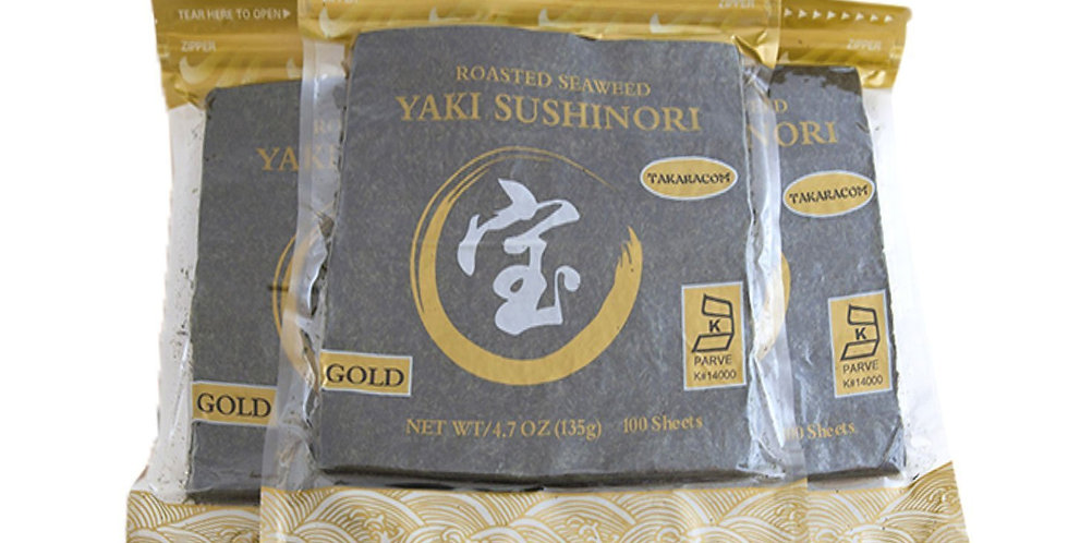 Taka Gold Nori Halfcut 100shX10PK /CS