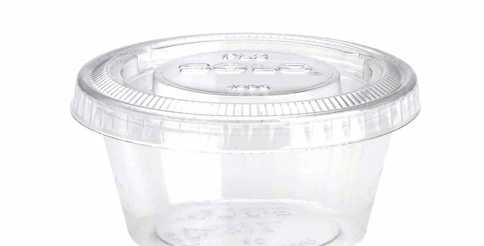 Plastic Sauces Cup & Lid 2500pcs/CS (various sizes)