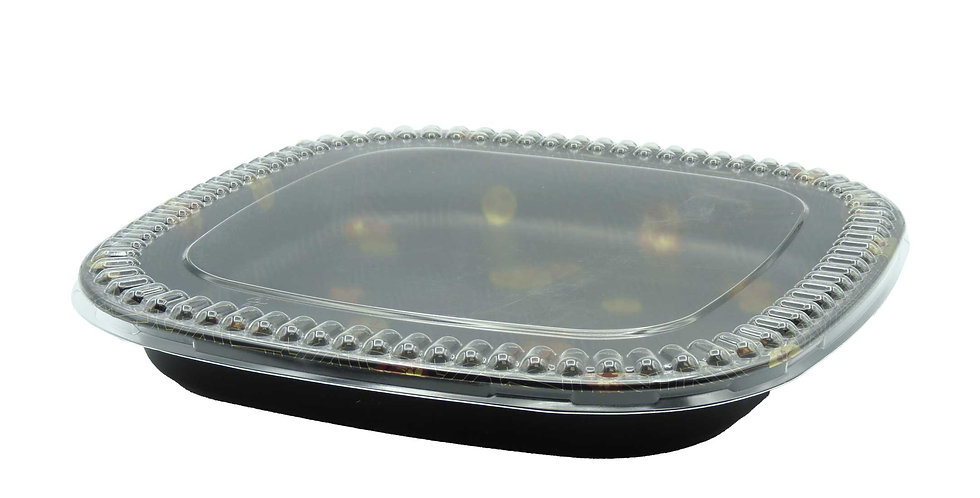 WE 300S Square Party Tray w. Lid 120/Case