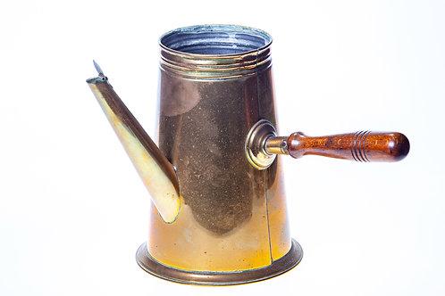 Ancienne Cafetière théière Chocolatière laiton cuivre