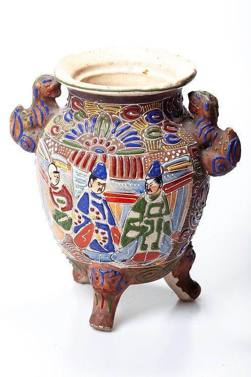 Vase ou Urne Japonais en faïence
