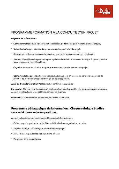 Formation à la conduite d'un projet 1.j