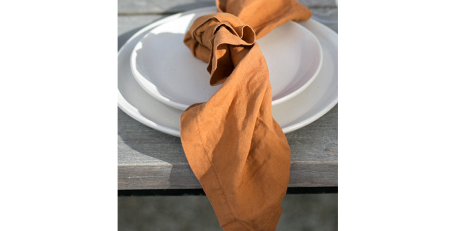 Rust French Linen Napkin