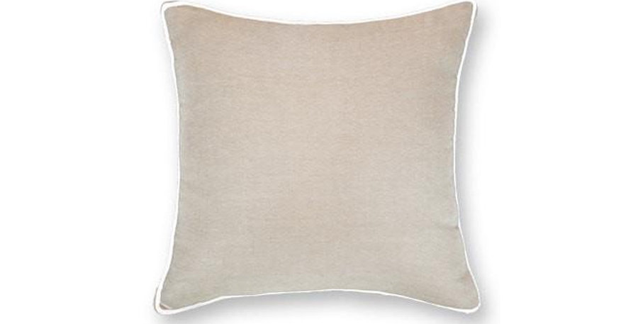 Piped Natural Linen Cushion