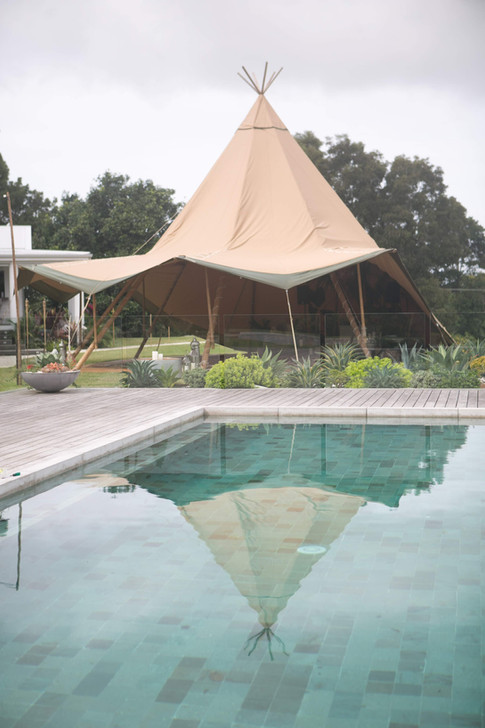 Giant Tipi by the Pool