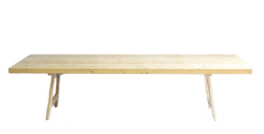 3m Wooden Feasting Table