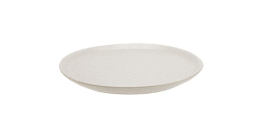 Irregular White Dinner Plate