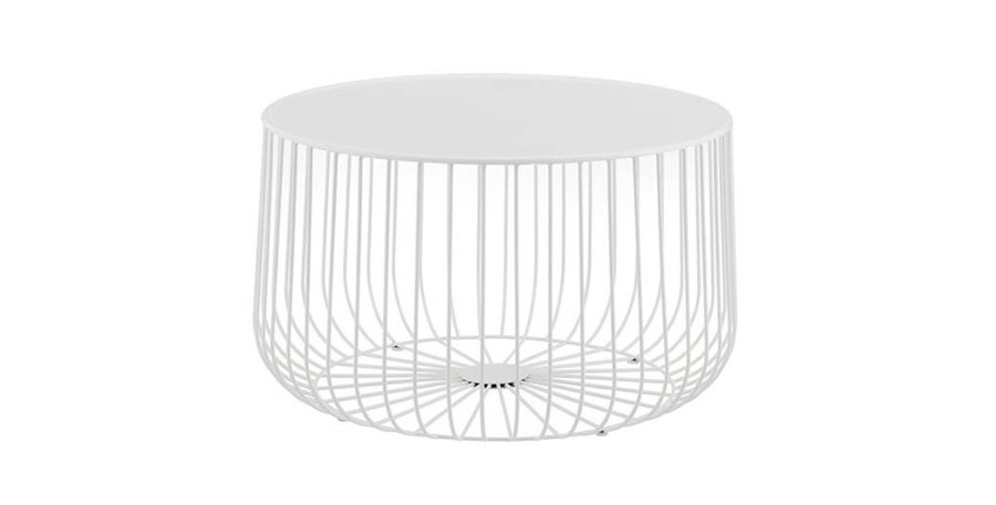 Siena Wire Coffee Table - White