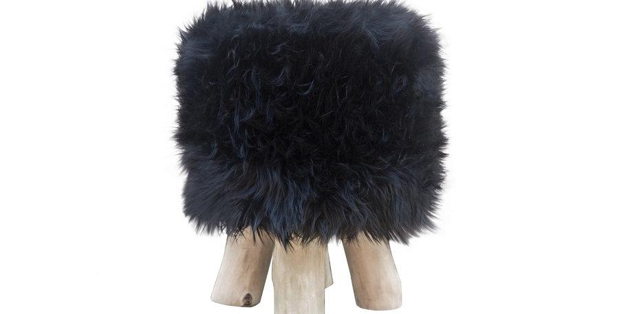 Lebombo Faux Fur Stool