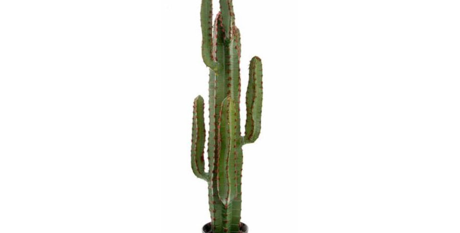 115cm Potted Faux Desert Cactus