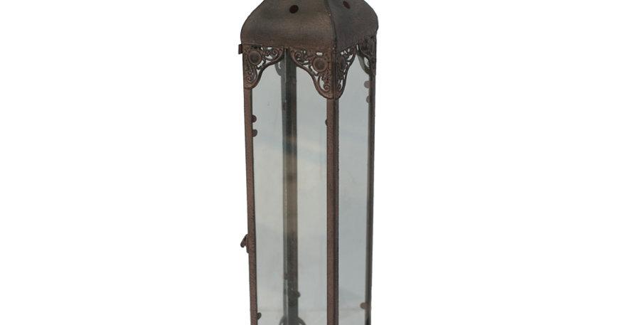 Tall Glass Moroccan Lantern