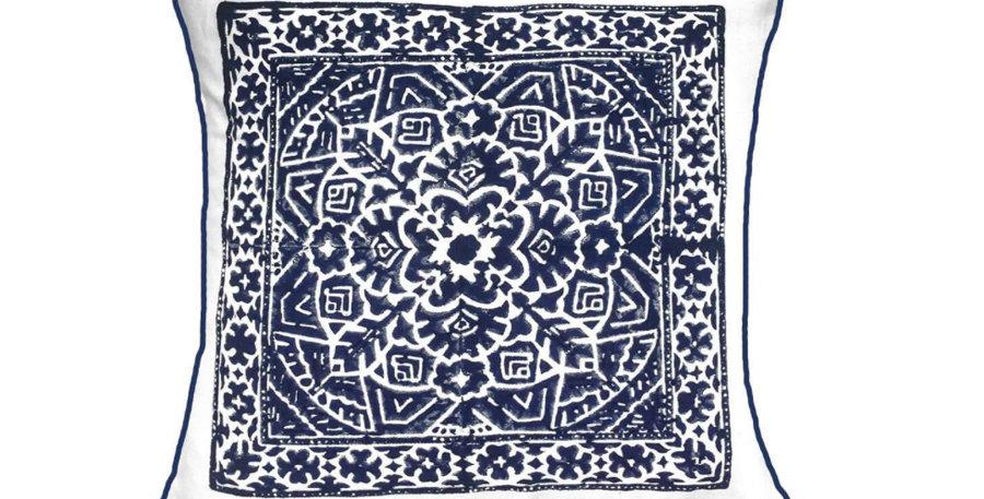 Navy Kilim Cushion