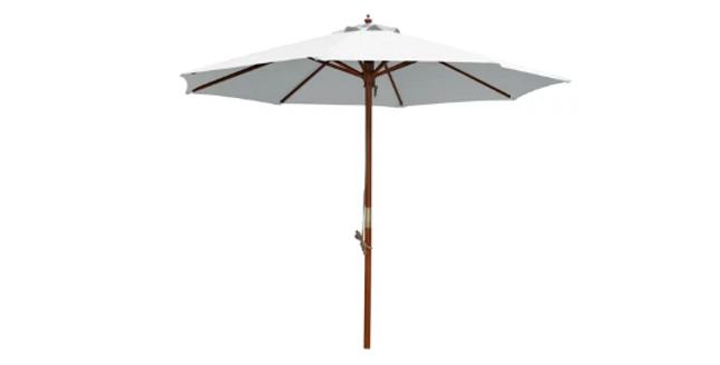 3m Round Market Umbrella / Wooden Base