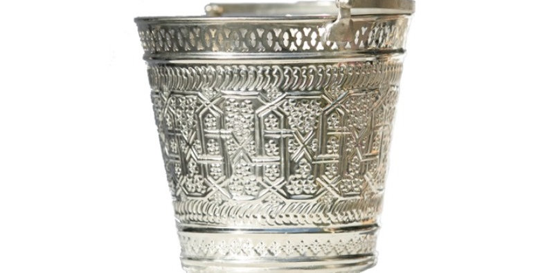 Silver Moroccan Champagne Bucket