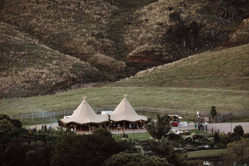 Two giant Tipis at Forget Me Not Weddings