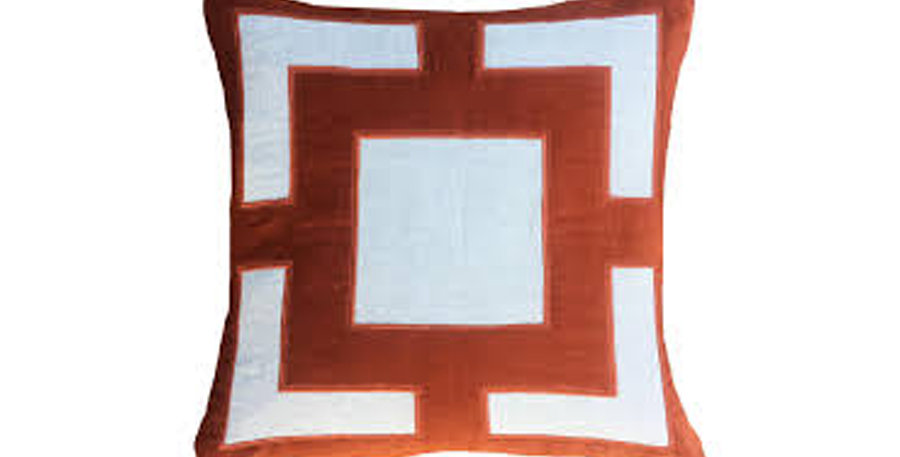 Rust Panel Cushion