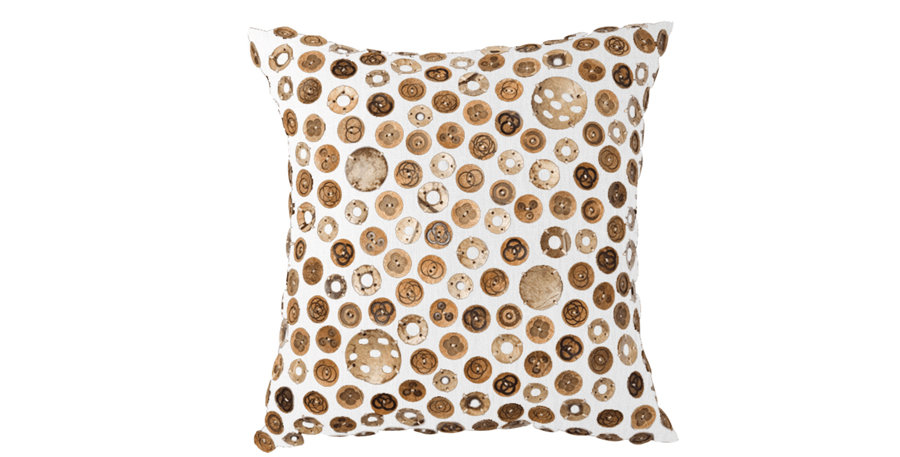 Coconut Button White Cushion