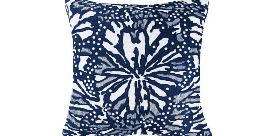 Navy Butterfly Cushion