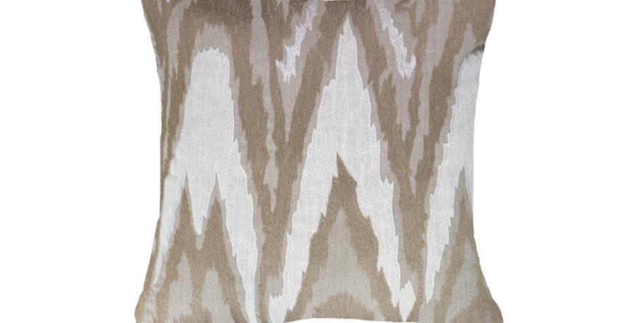 Beige & White Shimmer Cushion