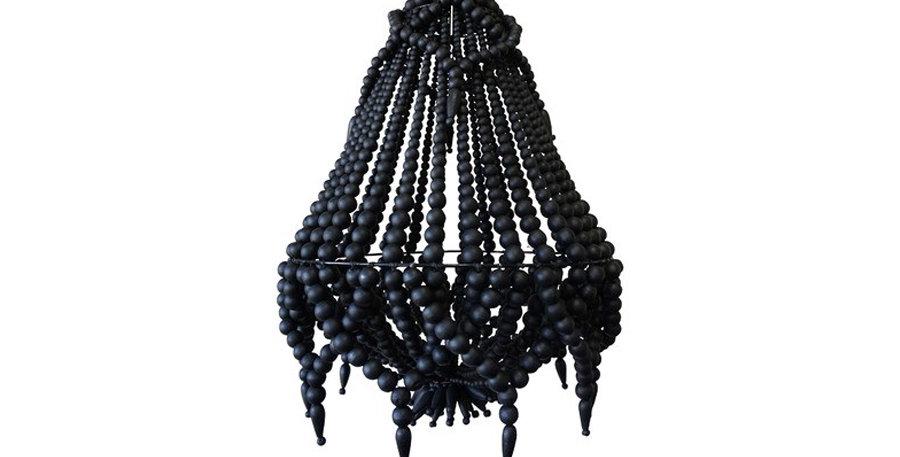 Black Beaded Chandelier