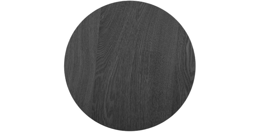 Black Timber Charger Plate
