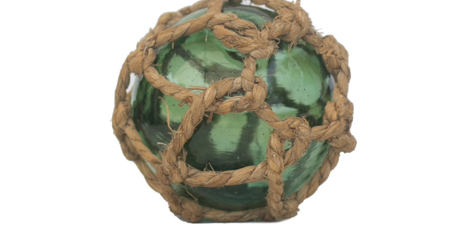 Green Glass Nautical Ball