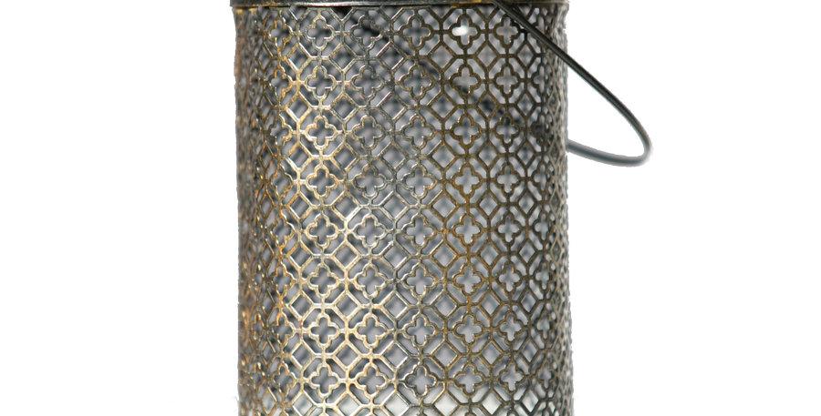 Mesh Brushed Gold Lantern