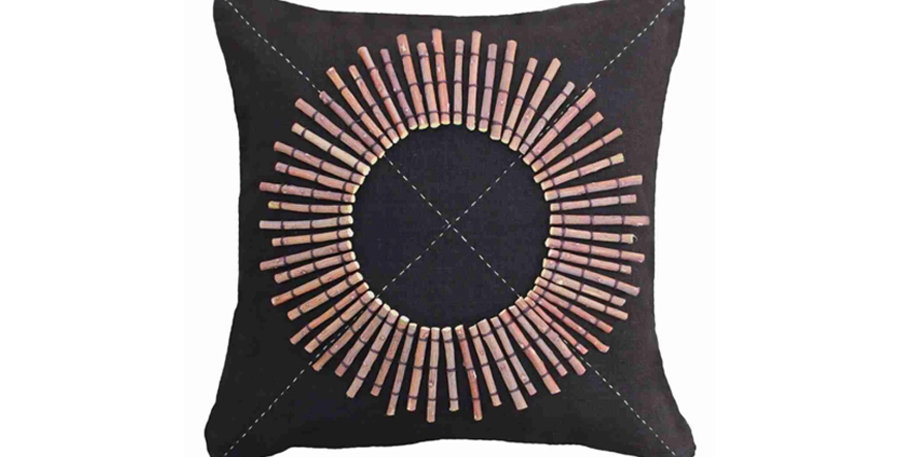 Twiggy Black Cushion