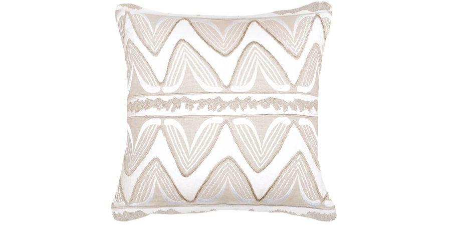 Beige & White Pattern Cushion