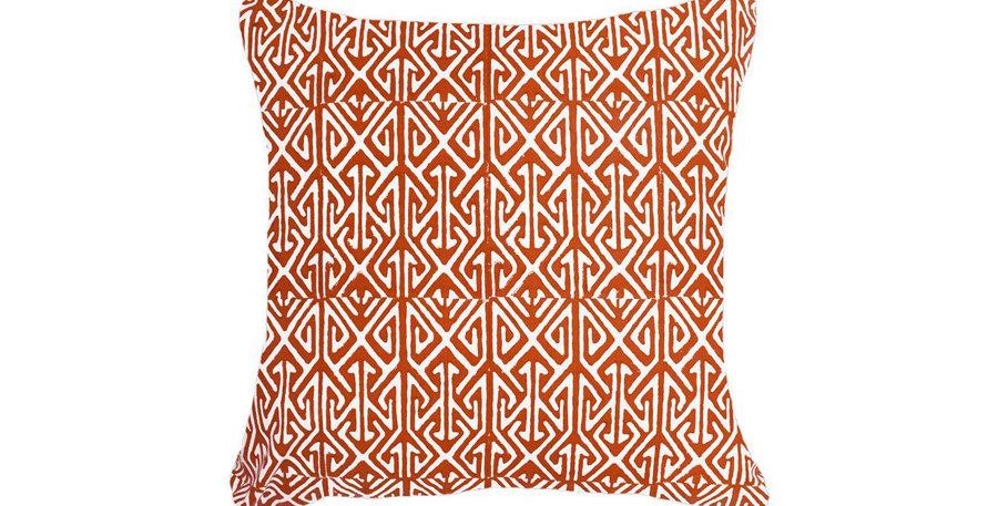 Orange Arrow Print Cushion