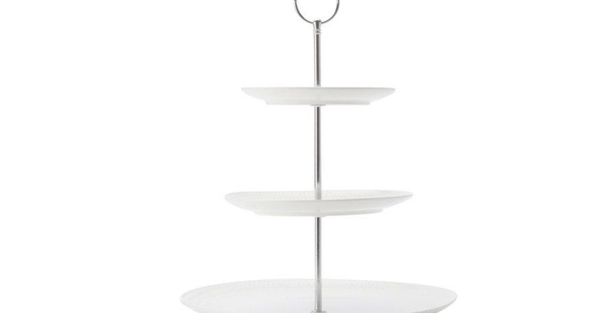 3 Tier White Ceramic Cake Stand