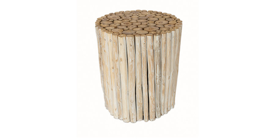 Driftwood White Wash Side Table