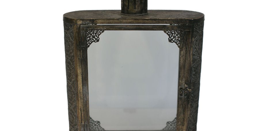 Brushed Gold Moroccan Lantern