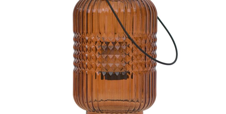 Orange Glass Lantern