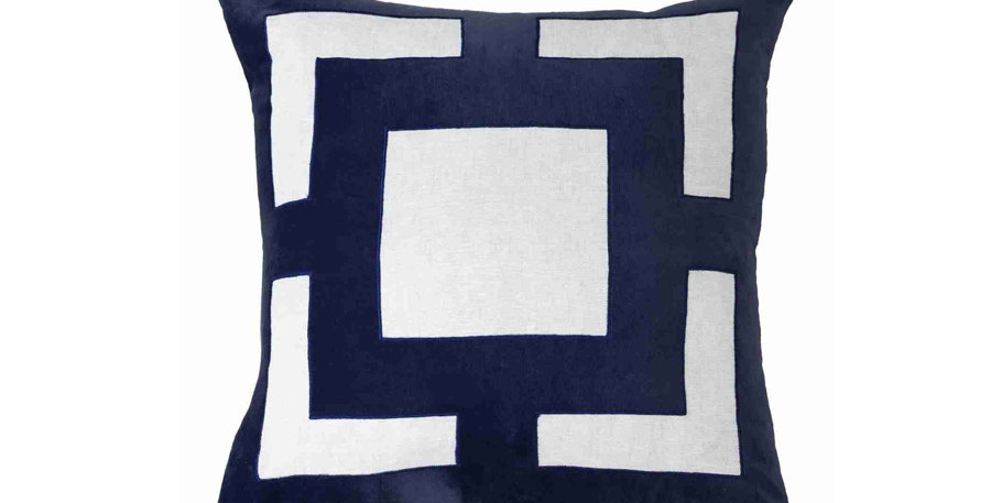 Navy Panel Cushion