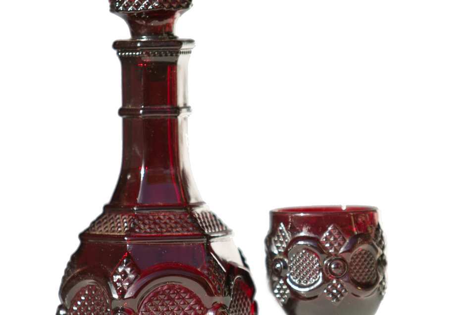 Ruby Red Moroccan Glass Set