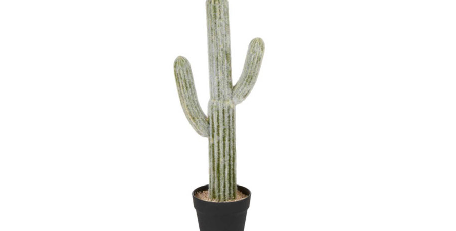 61cm Potted Faux Mexican Cactus Plant
