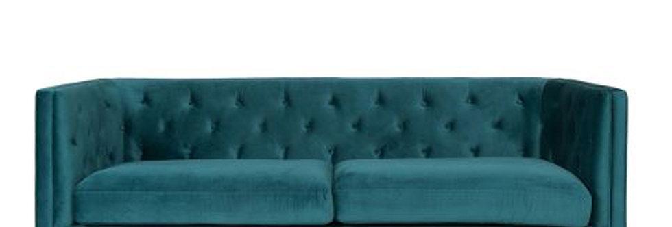 Green Velvet 3 Seater