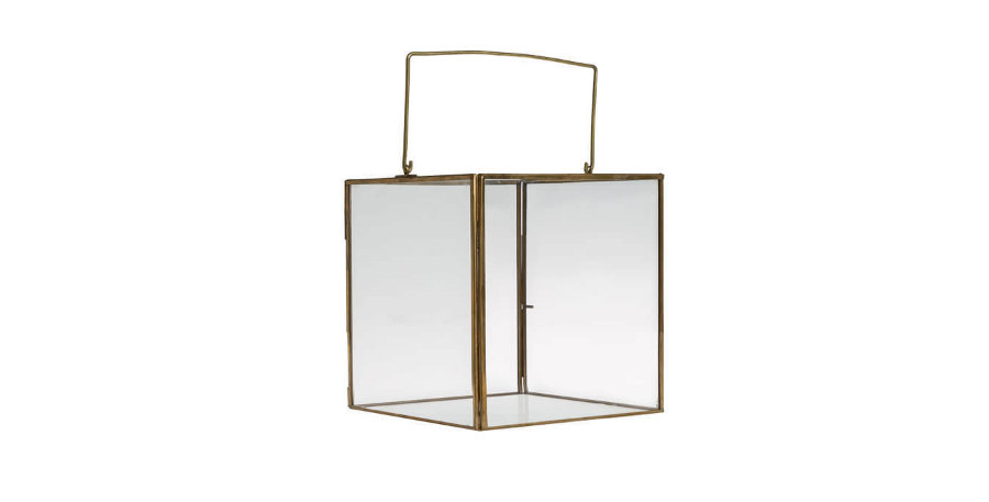 Gold Square Lantern
