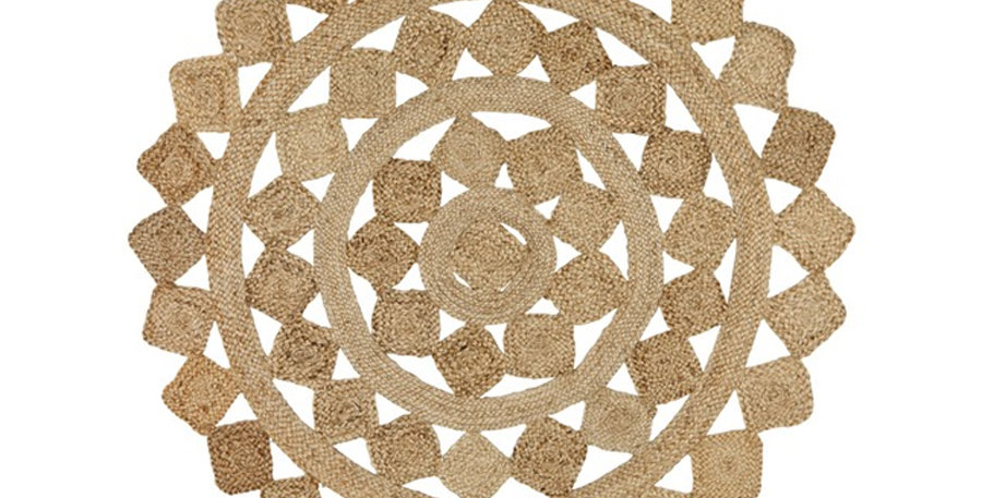 Jasmine Diamonds Jute Rug