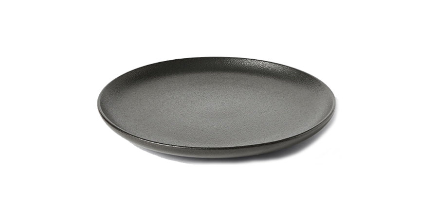 Black Pebble Dinner Plate