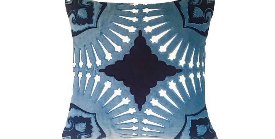 Navy Velvet Roman Cushion