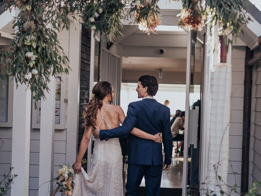 Style & Romance at Beach Byron Bay's Winter wedding shoot.
