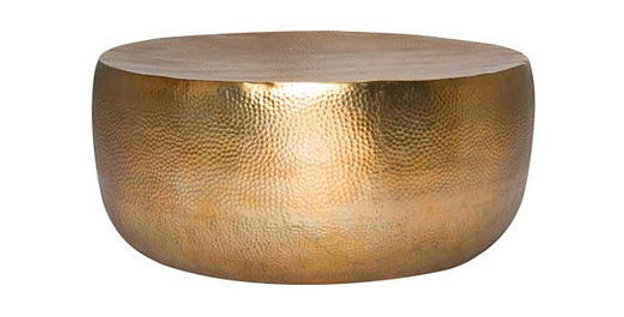 Gold Hammered Table