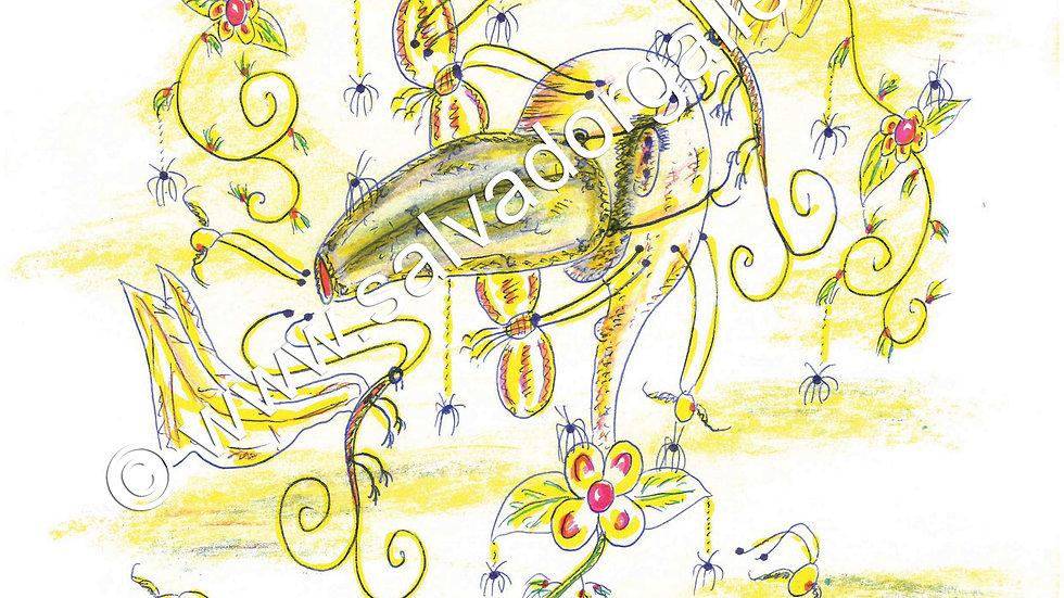 Charles Bronson Salvador Original A4 Artwork - Beak Nose